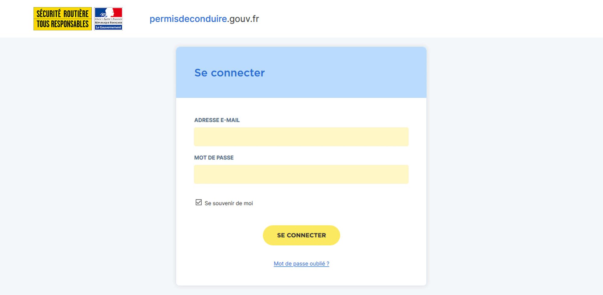 Connexion Rendez-vous Permis