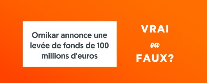 Ornikar annonce 100 millions euros levee de fonds